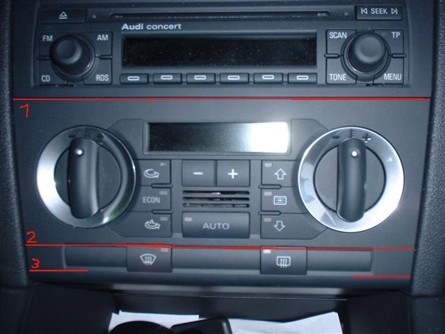 Audi a3 schablone klima bedienteil umbau einfach din auf for Mueble 2 din audi a3